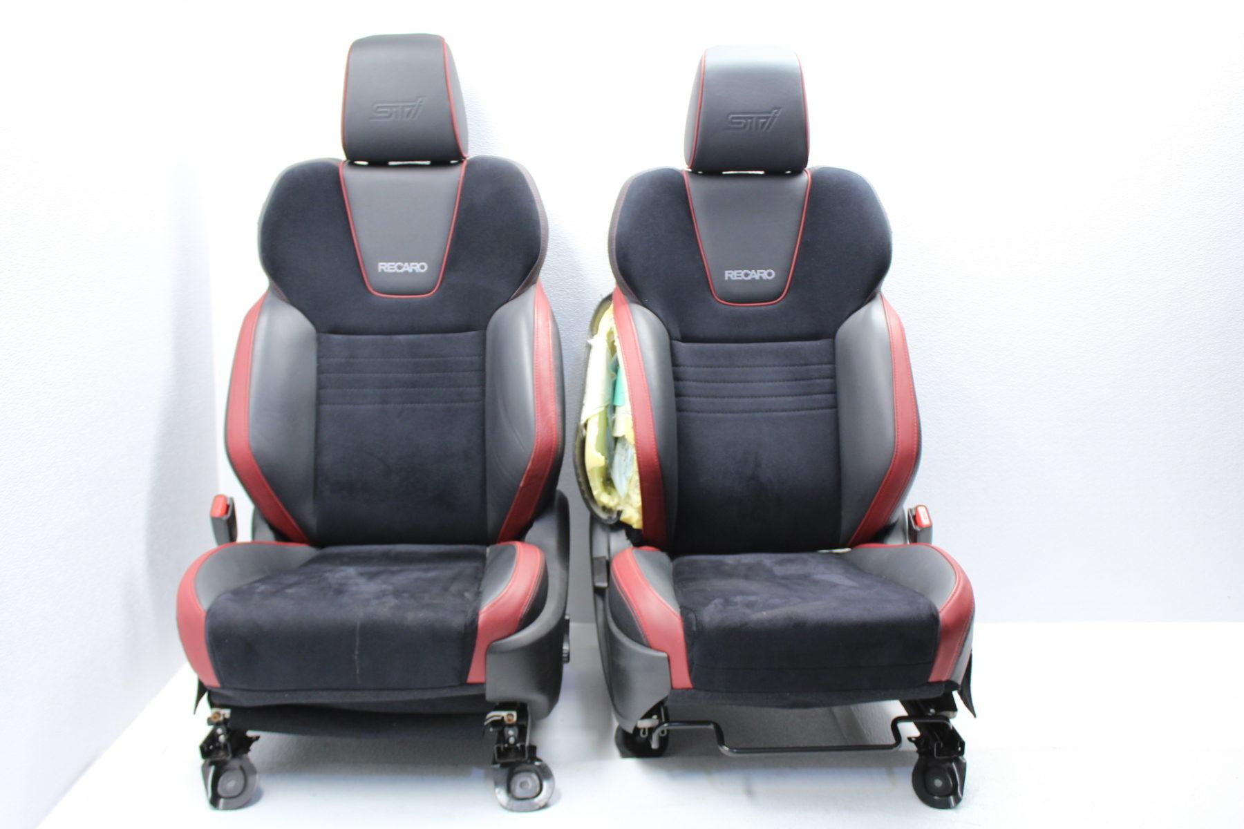 18 19 2018 2019 Subaru Wrx Sti Front Recaro Seats Leather Suede Oem Lh Rh Subieautoparts Com